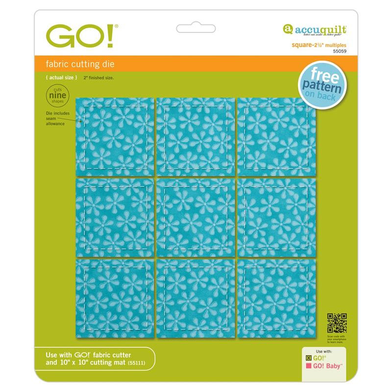 Accuquilt Go Die Square 2 1 2 Quot 2 Quot Finished Multiples 55059