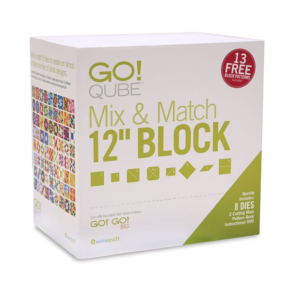 Accuquilt Go Cube Qube Mix And Match 12 Quot Block Die Set 55778