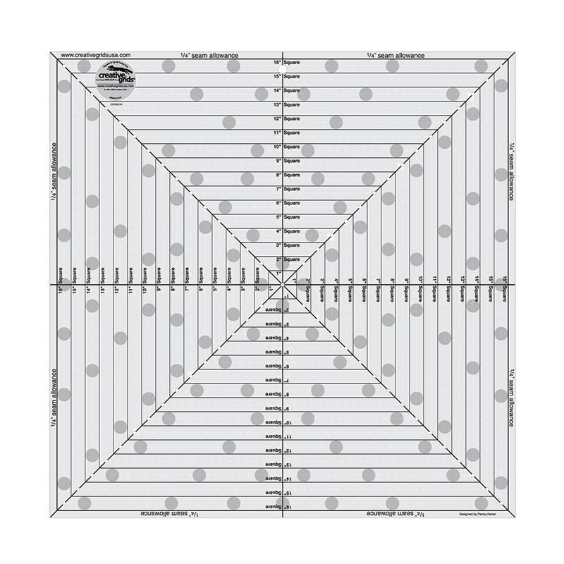 Creative Grids 16 1 2 Quot Square It Up Or Fussy Cut Square Ruler