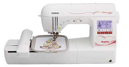 combination sewing and embroidery machine