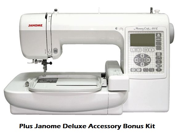 Janome memory craft 200e embroidery machine plus deluxe for Janome memory craft 200e