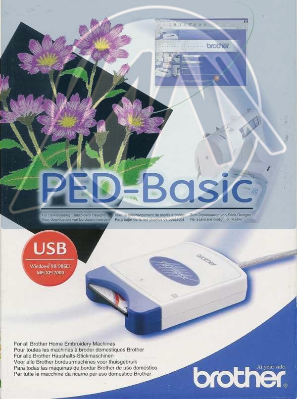 2 Pack Brother Ped Basic Embroidery Design Transfer Box