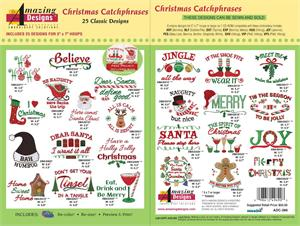 Amazing Designs ADC-266 Christmas Catchphrases Embroidery Designs ...