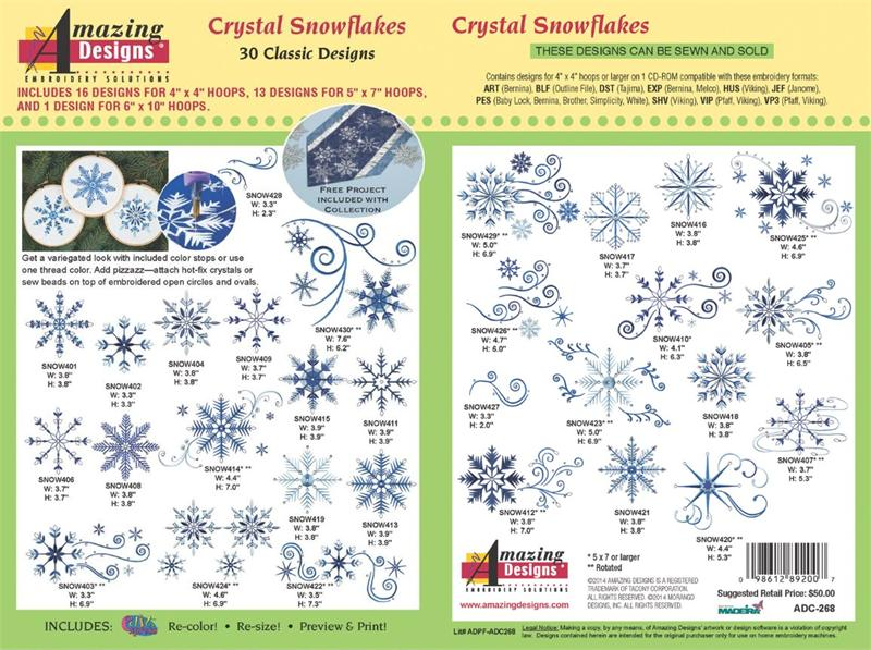 Amazing Designs ADC-268 Crystal Snowflake Embroidery