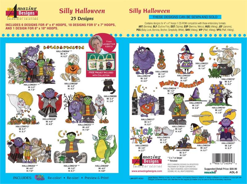 Amazing Designs ADL-9 Silly Halloween Embroidery Designs