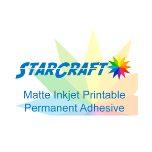 picture relating to Printable Outdoor Vinyl called StarCraft Inkjet Printable Matte Long lasting Self Adhesive