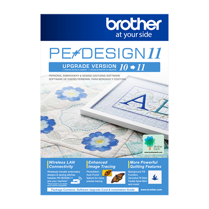 BROTHER PE DESIGN 11 Embroidery and Sewing Digitizing